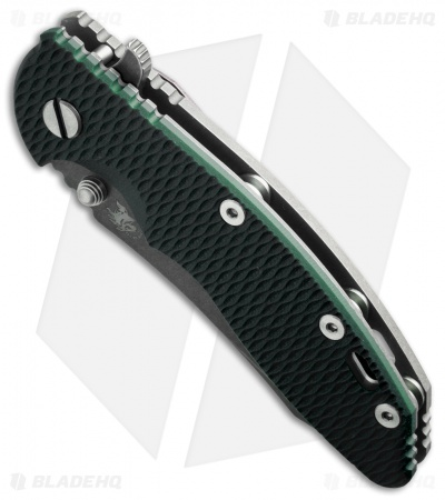 "Hinderer Knives XM-18 Skinner Flipper Knife Sea Green G-10 (3.5"" Black)"