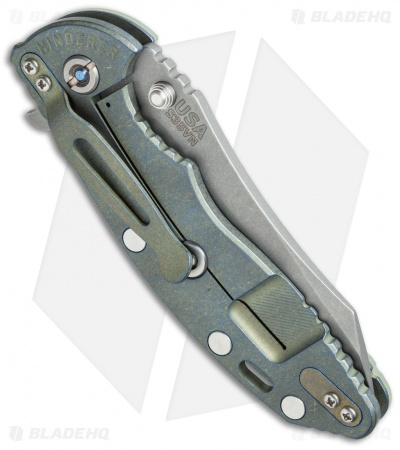 "Hinderer Knives XM-18 Skinner Frame Lock Knife Translucent Green (3.5"" SW)"