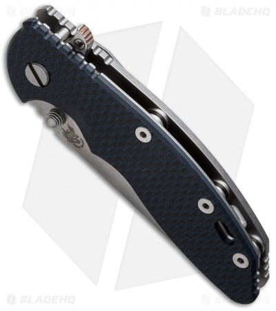 "Hinderer Knives XM-18 Fatty Harpoon Tanto Knife Black/Blue (3.5"" Stonewash)"