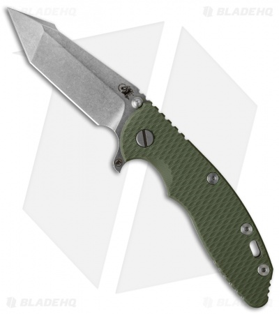 "Hinderer Knives XM-18 Fatty Harpoon Tanto Knife OD Green (3.5"" Stonewash)"