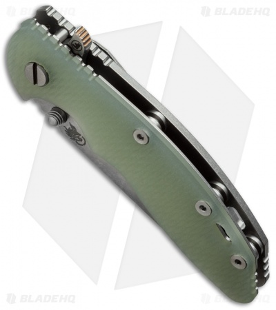 "Hinderer Knives Fatty XM-18 Harpoon Knife Translucent Green (3.5"" Stonewash)"
