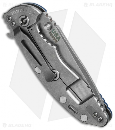 "Hinderer Knives Fatty Edition XM-18 Spanto Flipper Blue/Black (3.5"" Stonewash)"