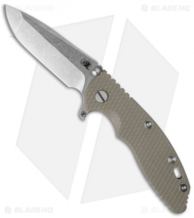 "Hinderer Knives Fatty Edition XM-18 Spanto Flipper Knife Sand (3.5"" Stonewash)"