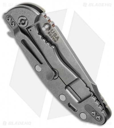 "Hinderer Knives XM-18 Fatty Harpoon Tanto Flipper Knife Sand (3.5"" Stonewash)"