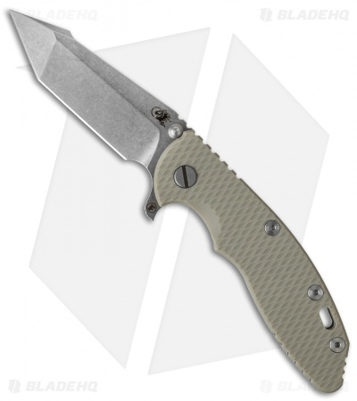 "Hinderer Knives Fatty Edition XM-18 Harpoon Flipper Knife Sand (3.5"" Stonewash)"