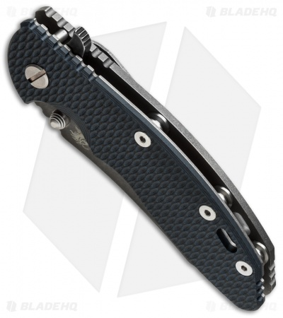"Hinderer Knives XM-18 Skinner Flipper Knife Black/Blue (3.5"" Black SW)"