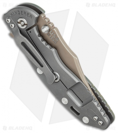 "Hinderer Knives XM-18 Bowie Flipper Knife ACU Camo G-10 (3.5"" Battle FDE)"