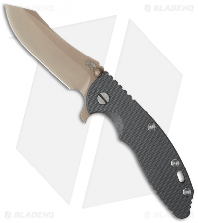 Hinderer Knives XM-18 3.5 Skinner Flipper Knife Gray G-10 (FDE Brown)