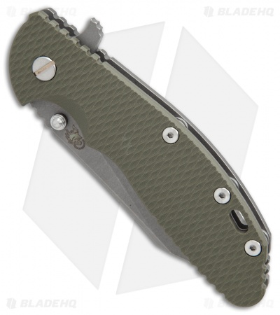 "Hinderer XM-24 Wharncliffe Flipper Knife OD Green G-10 (4"" M390 Working)"