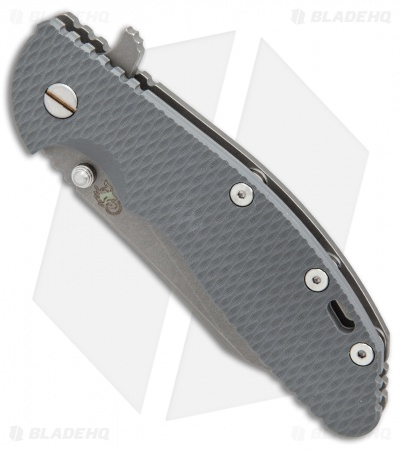 "Hinderer XM-24 Wharncliffe Flipper Knife Gray G-10 (4"" M390 Working)"