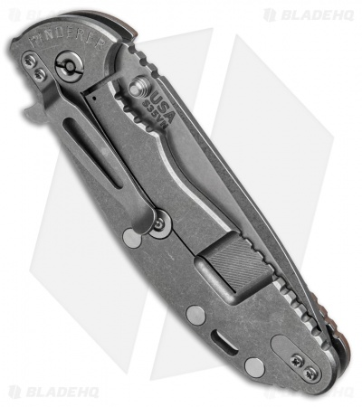 "Hinderer Knives XM-24 Spanto Flipper Knife Flat Dark Earth G-10 (4"" Stonewash)"