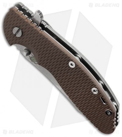 "Hinderer Knives XM-24 Skinner Flipper Knife Brown FDE (4"" Stonewash)"