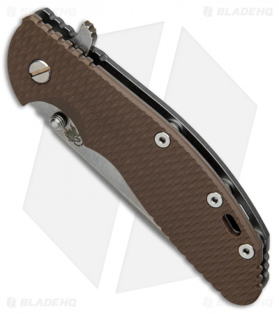 "Hinderer Knives XM-24 Spear Point Flipper Knife FDE G-10 (4"" Stonewash)"