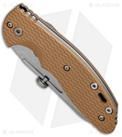 "Hinderer Knives XM Slippy Sheepsfoot Slip Joint Knife Coyote G-10 (3"" Stonewash)"