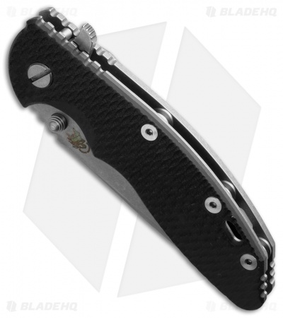 "Hinderer Knives XM-18 Spear Point Flipper Black G-10 (3.5"" Stonewash)"