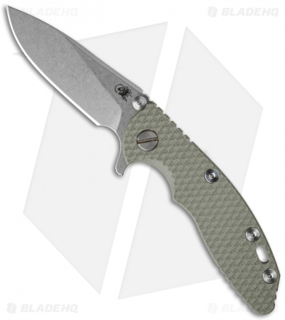 "Hinderer Knives XM-18 Slicer Flipper Knife Foliage Green (3"" Stonewash)"