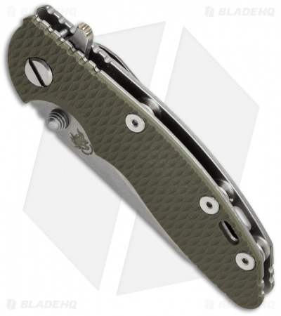 "Hinderer Knives XM-18 Wharncliffe Flipper Knife OD Green (3"" Stonewash)"