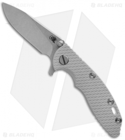 "Hinderer Knives XM-18 Slicer Flipper Knife Gray G-10 (3"" Stonewash)"