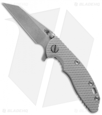 "Hinderer Knives XM-18 Wharncliffe Flipper Knife Gray G-10 (3"" Stonewash)"