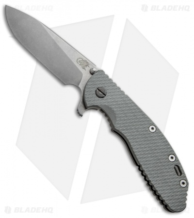 "Hinderer Knives XM-24 Flipper Knife Gray (4"" Stonewash)"