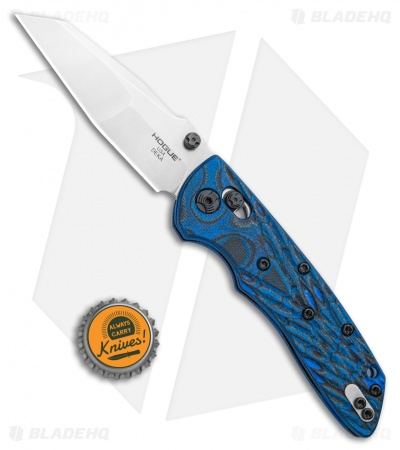 "Hogue Knives Deka Modified Wharncliffe Knife Blue Lava G-mascus (3.25"" Tumble)"