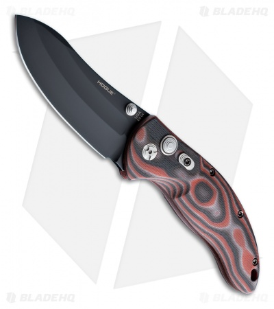 "Hogue Knives EX04 Upswept Knife Red Lava G-Mascus (4"" Plain) 34452"