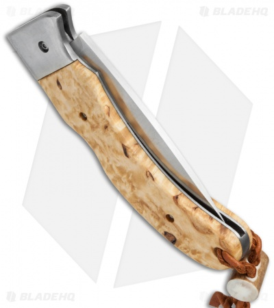 "Karesuando Kniven Singi Lockback Folding Knife Curly Birch (3.25"" Satin)"