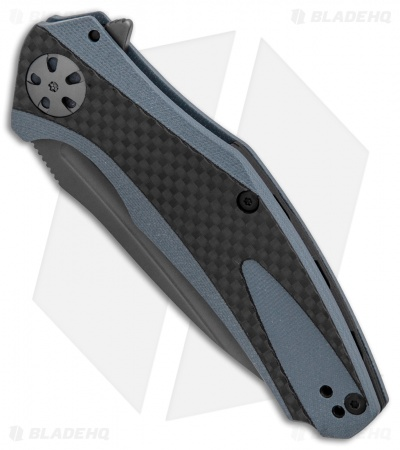 "Kershaw Natrix Sub-Frame Lock Knife Blue G-10/Carbon Fiber (3.25"" Gray) 7007CF"