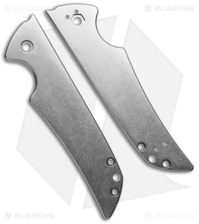 Flytanium Custom Titanium Scales for Kershaw Skyline Knife - Stonewash