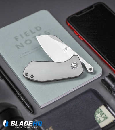 "Kizer Jared Price WPK Friction Folder Knife Titanium (2.5"" Stonewash) Ki2534A1"