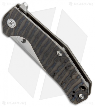 "Kizer Kesmec Frame Lock Knife Flamed Titanium (3.5"" Satin) Ki4461A1"