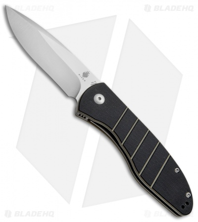 "Kizer Vanguard Velox 2 Liner Lock Flipper Knife Black G-10 (3.4"" Satin) V4478A1"