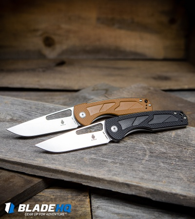 "Kizer Yukon Liner Lock Knife Brown (3.39"" Stonewash) V4004N2"