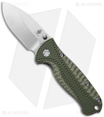 "Kizer Small Hunter Liner Lock Knife Green G-10 (2.5"" Satin) Ki3416A21"