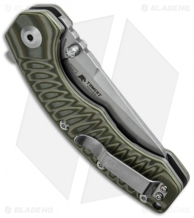 "Kizer Tigon Liner Lock Knife Green/Tan G-10 (3.625"" Stonewash) Ki4450A2"