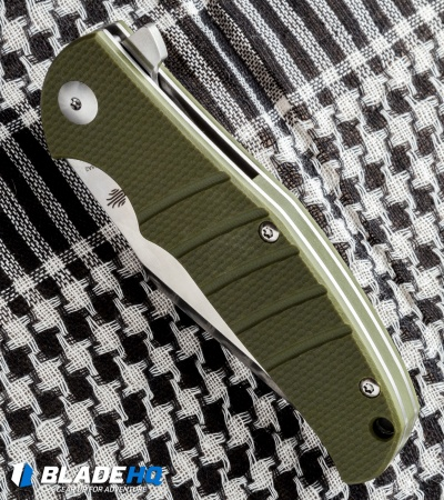 "Kizer Vanguard Series Laconico Intrepid Flipper Green G-10 Knife (3.625"" Satin)"