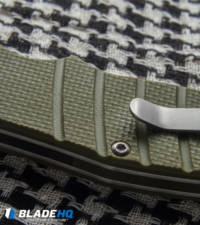 "Kizer Vanguard Laconico Intrepid Flipper Green G-10 Knife (3.625"" Satin) V4468A2"