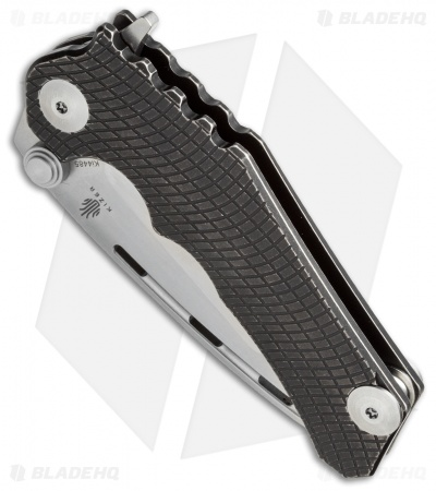 "Kizer Willumsen Perock Flipper Knife Black Titanium (3.5"" Satin) Ki4485"