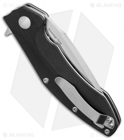 "Kizer Vanguard Series Sovereign-Tang Flipper Black G-10 (3.6"" Satin) V4431A1"
