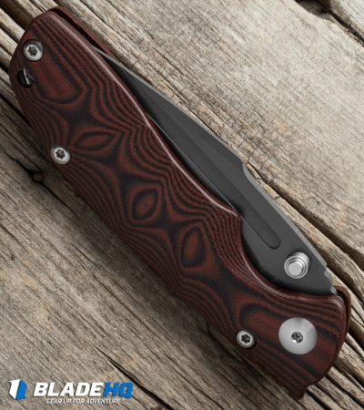 "Kizer Vanguard Series Bolt Knife Red/Black G-10 (3.5"" Gray) V4412A2"