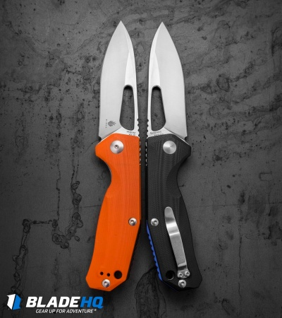 "Kizer Vanguard Kesmec Liner Lock Knife Orange G-10 (3.25"" Satin) V4461A2"