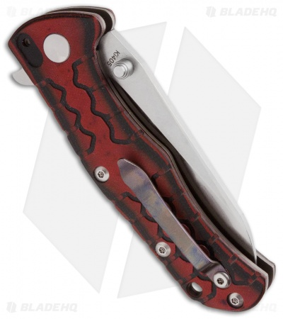"Kizer Cutlery Ophid Folding Knife Black/Red G-10 (3.5"" Satin) Ki405"