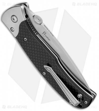 "Kizlyar Supreme Knives Prime Liner Lock Knife Carbon Fiber (3.375"" Satin)"