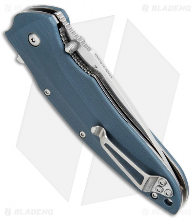 "Kizlyar Supreme Knives Zorg AUS-8 Liner Lock Knife Blue G-10 (3.25"" Satin)"