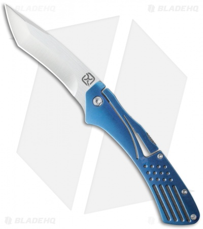 "Klecker Knives Slice Tanto Lockback Knife Blue (3.5"" Satin) TG-14"