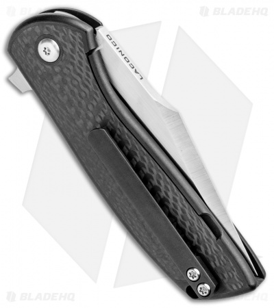 Alliance Designs Laconico Angry Baby Bear Flipper Tanto Knife Black Ti/CF