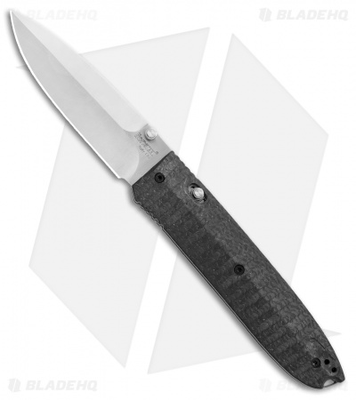 "LionSteel Daghetta Carbon Fiber / G-10 Folding Knife (3.25"" Satin) Italy 8700FC"