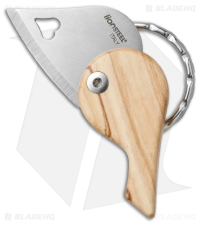 "LionSteel LionBeat Folding Keychain Knife Olivewood (1.125"" Satin)"