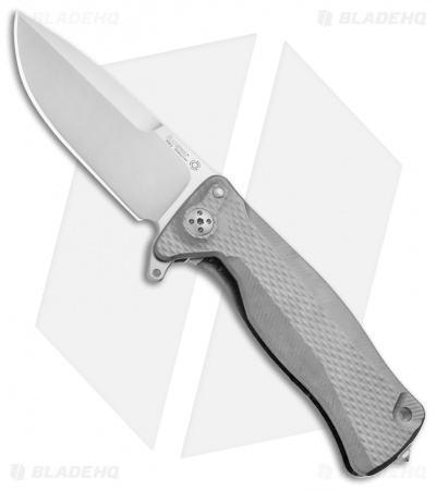 "LionSteel SR-11 Integral Frame Lock Knife Titanium (3.6"" Satin)"