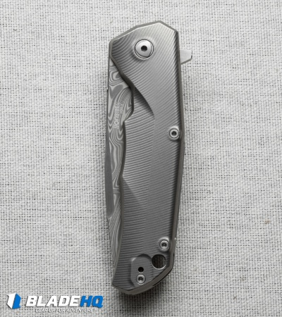 "Lion Steel TRE Three Rapid Exchange Flipper Knife Titanium (2.8"" Damascus) TREDT"